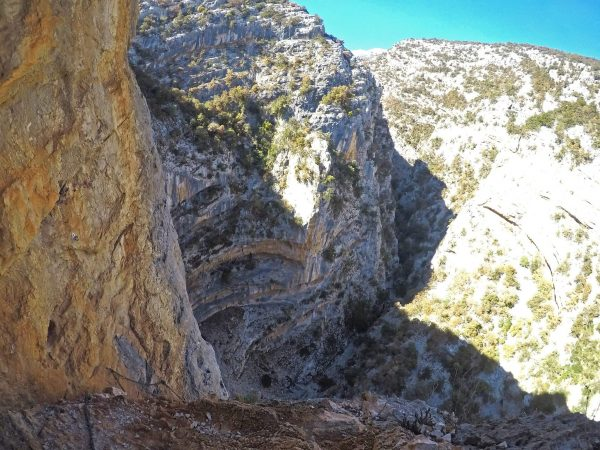 Ferrata Badde Pentumas 3 canyon alto