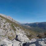 Ferrata Badde Pentumas 4 uphill panorama