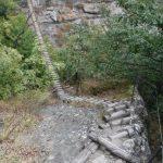 Ferrata Balze del Malpasso descent to the second suspension bridge