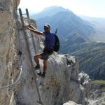 Bafile Ferrata Shelter 6 ladder