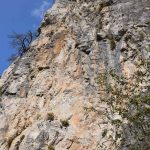 Ferrata Camoglieres 11 second section wall