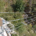 Ferrata Camoglieres 39 bridge approach