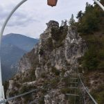 Ferrata Camoglieres 40 campanella bridge