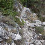 Ferrata Camoglieres 57 sentiero rientro attrezzato