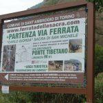 Ferrata Carlo Giorda 15 start sign
