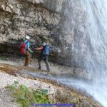 Ferrata Fanes Falls Cross the waterfall
