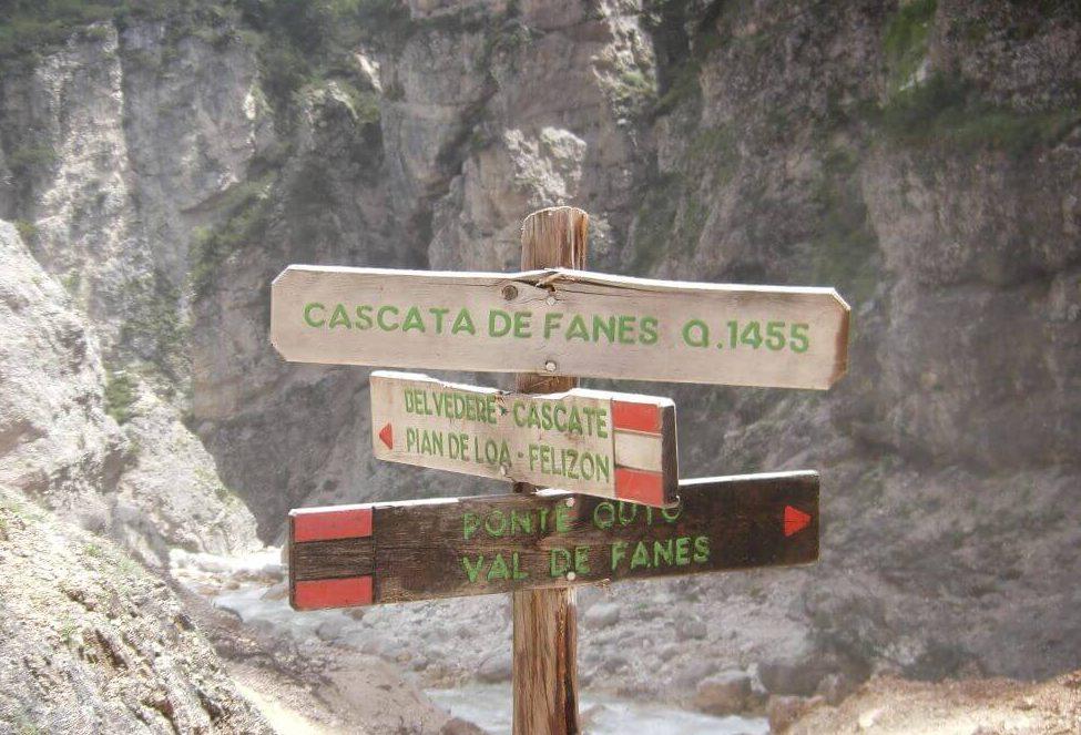 Ferrata Cascate di Fanes Cartello 28775fc807a