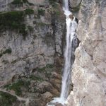 Ferrata Waterfalls of Fanes Above Barbara under Dalaiti