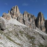 Ferrata Cengia Veronesi 9 descent to saddle Lech