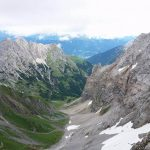 Ferrata Coglians weg der 26er 34 re-entry valley