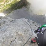 Ferrata Coglians weg der 26er 39 first section exposure