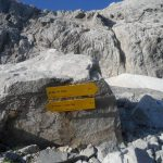 Ferrata Coglians weg der 26er 45 start sign