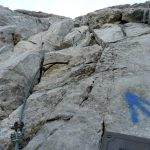 Ferrata Coglians weg der 26er 48 start