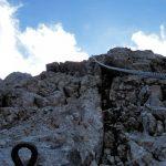Ferrata Coglians weg der 26er 49 overhanging wall