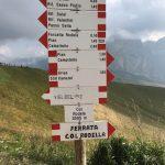 Ferrata Col Rodella Approach Sign