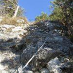 Ferrata Crench 19 near the start