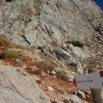 Ferrata Crete Rosse 11 junction start