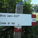 Ferrata Crete Rosse 26 avvicinamento