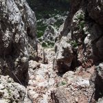 Ferrata Crete Rosse 29 red chalk canyon