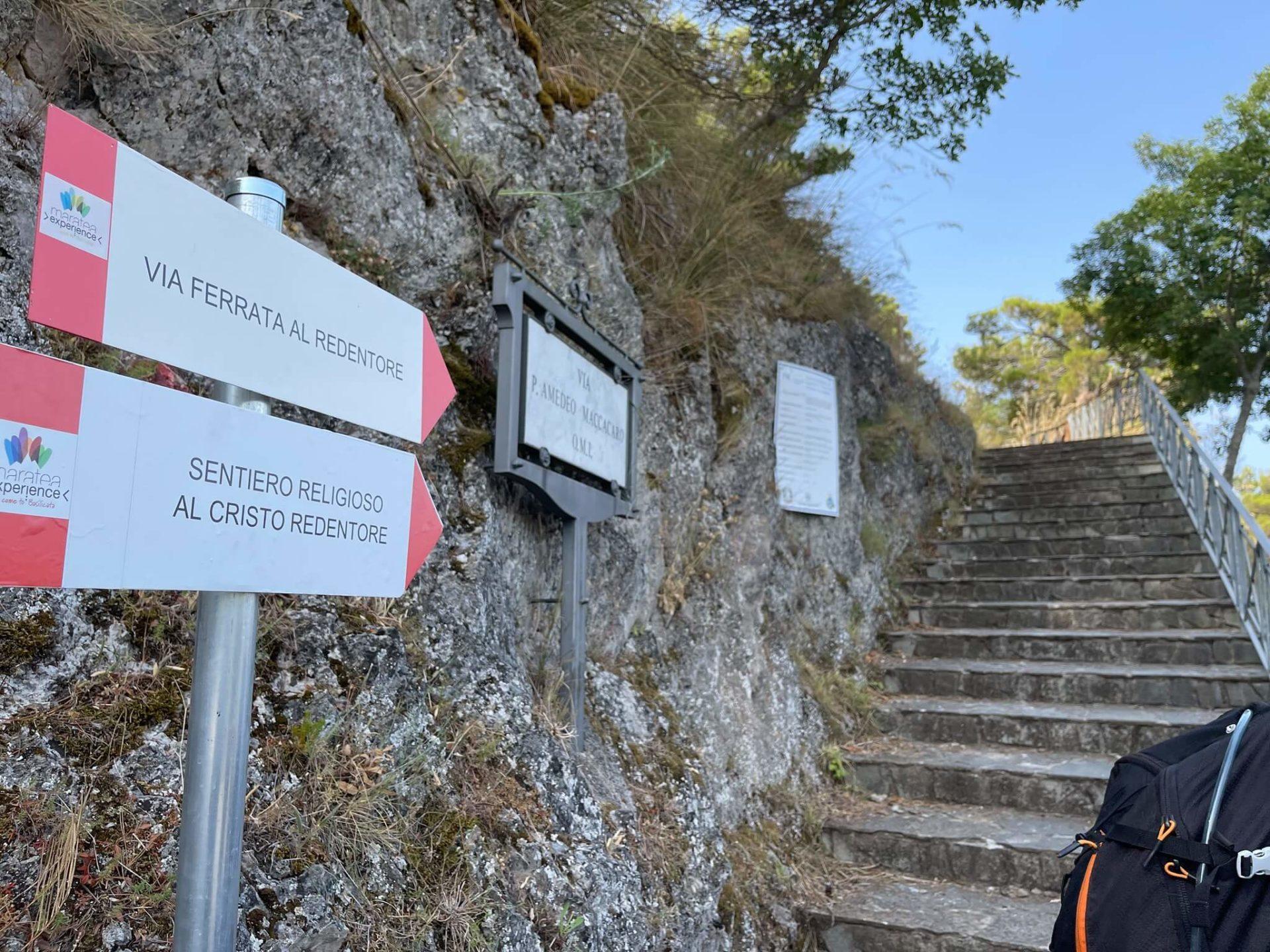 Ferrata CristoRedentore Maratea – 1 avvicinamento