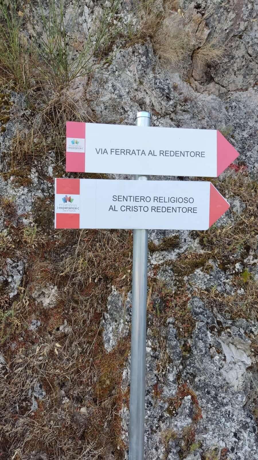 Ferrata CristoRedentore Maratea – 2 cartello