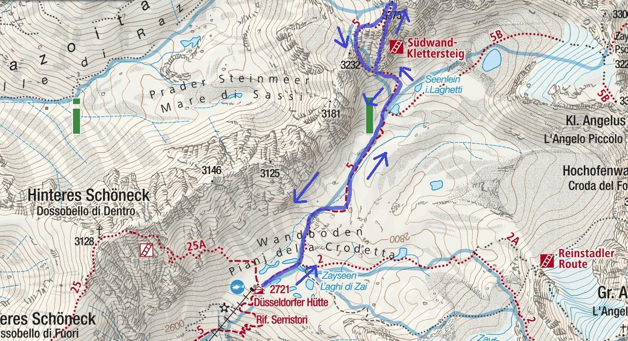 Ferrata Croda di Cengles Itinerario 1