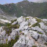 Ferrata Falcipieri 58 towards the top of Cuaro