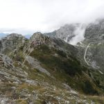 Ferrata Falcipieri 66 towards simon rosso and the observatory summit