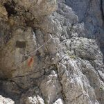 Ferrata Fiamme Gialle Pale San Martino 55 high rooms