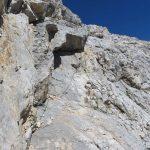 Ferrata Formenton Tofana Inside 21 uphill ledge