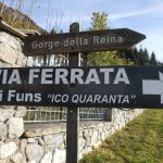 Ferrata Funs 5 approach signs
