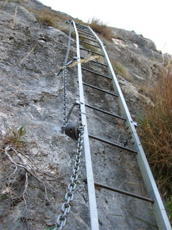 Ferrata Gamma 1 15 first ladder