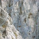 Ferrata Gamma 1 22 suspension bridge