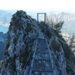 Ferrata Gamma 1 Pizzo Erna 10 bridge