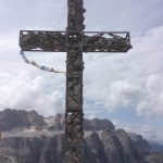 Ferrata Grande Cir summit cross
