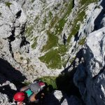 Ferrata Grasselli Canin 23 groove towards canin