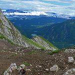 Italian Ferrata Mangart 19 descent towards shelter nogara