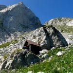 Italian Ferrata Mangart 27 shelter approach and via ferrata start