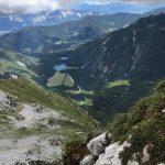 Ferrata Italiana Mangart 3 lakes fusine from the via ferrata