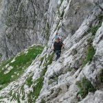 Ferrata Italiana Mangart 43 traverso a destra