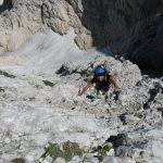 Ferrata Julia Canin 16 rocks back ledges