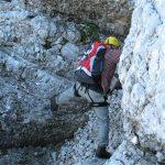 Ferrata Julia Canin 17 passage exposed back ledge