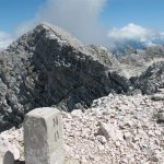 Ferrata Julia Canin 19 boundary stone