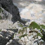 Ferrata Julia Canin 22 end ferrata glacier at the bottom