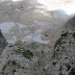 Ferrata Julia Canin 23 end ferrata glacier below