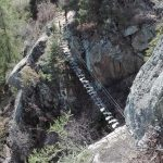 Knott Ferrata Bridge suspended from above