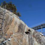 Knott Ferrata last ladder