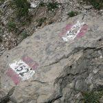Ferrata Mazzetta junction paths 152 153
