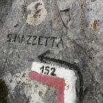 Ferrata Mazzetta scritta su sasso 152