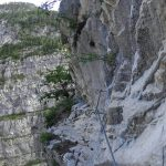 Vejont Ferrata Memory 54 ledge connection